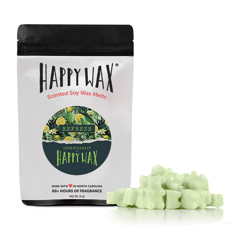 Happy Wax Refresh Wax Melts - All Happy Wax scented wax melts are made with 100% all natural soy wax.