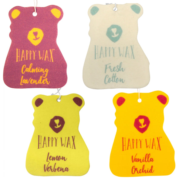 Happy Wax Relax & Refresh 4 Pack Car Fresheners - $12.95