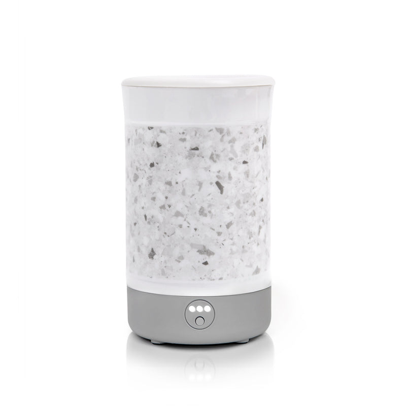 Happy Wax White Terrazzo Signature Wax Warmer - Use our electric wax melter with any scented wax melts, cubes or tarts for hours of flame-free home fragrance!