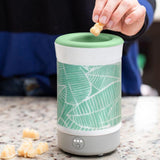 "Happy Wax - Palm Leaves - Signature Wax Melt Warmer - Use our electric wax melt warmer with any scented wax melts, cubes or tarts for hours of flame-free home fragrance. Includes an integrated 3-6-9 hour timer and a patent-pending ""no scrape"" silicone wax melt removal dish."