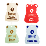Happy Wax Classics Car Air Freshener Assorted 4-Pack - A fragrant mix of our Very Cherry, Polar Ice, Vanilla Sandalwood and Cypress Breeze scented car fresheners. All Happy Wax scented car air fresheners are infused with essential oils!