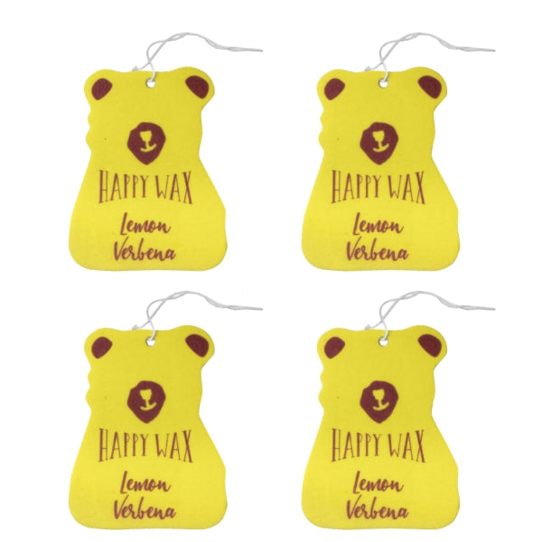 Happy Wax - Lemon Verbena Scented Car Freshener - All Happy Wax Car Cubs are infused with essential oils, you'll love opening your car door after a long day at work!