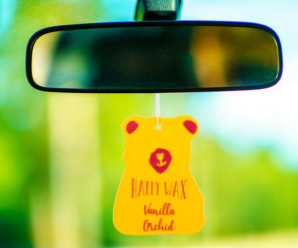 Vanilla Orchid Scented Car Freshener - All Happy Wax Car Cubs are infused with essential oils, you'll love opening your car door after a long day at work!