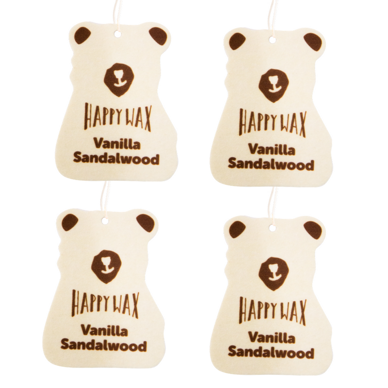 Vanilla Sandalwood Car Air Freshener 4-Pack