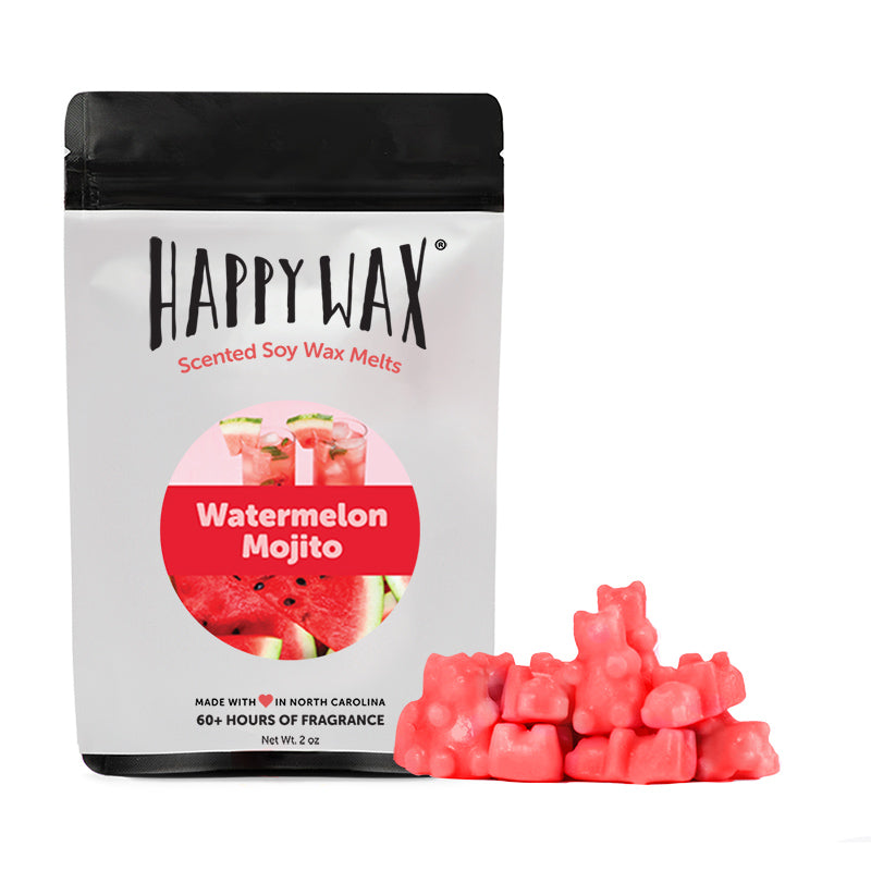 Happy Wax - Watermelon Mojito Wax Melts - All Happy Wax melts are made with 100% organic soy wax.