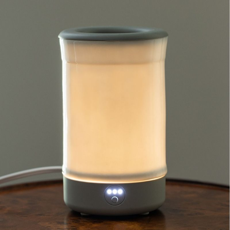 Happy Wax - White Signature Wax Melt Warmer - Use our electric wax warmers with any scented wax melt, cube or tart!