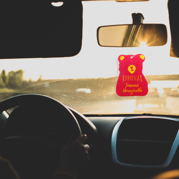 Jasmine Honeysuckle Scented Car Freshener - All Happy Wax Car Cubs are infused with essential oils, you'll love opening your car door after a long day at work!