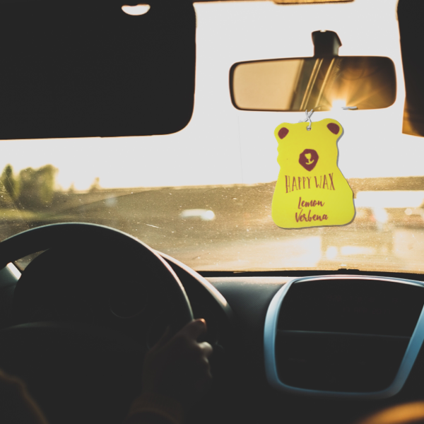 Lemon Verbena Scented Car Freshener - =All Happy Wax Car Cubs are infused with essential oils, you'll love opening your car door after a long day at work!