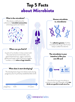 Top 5 facts about the microbiota
