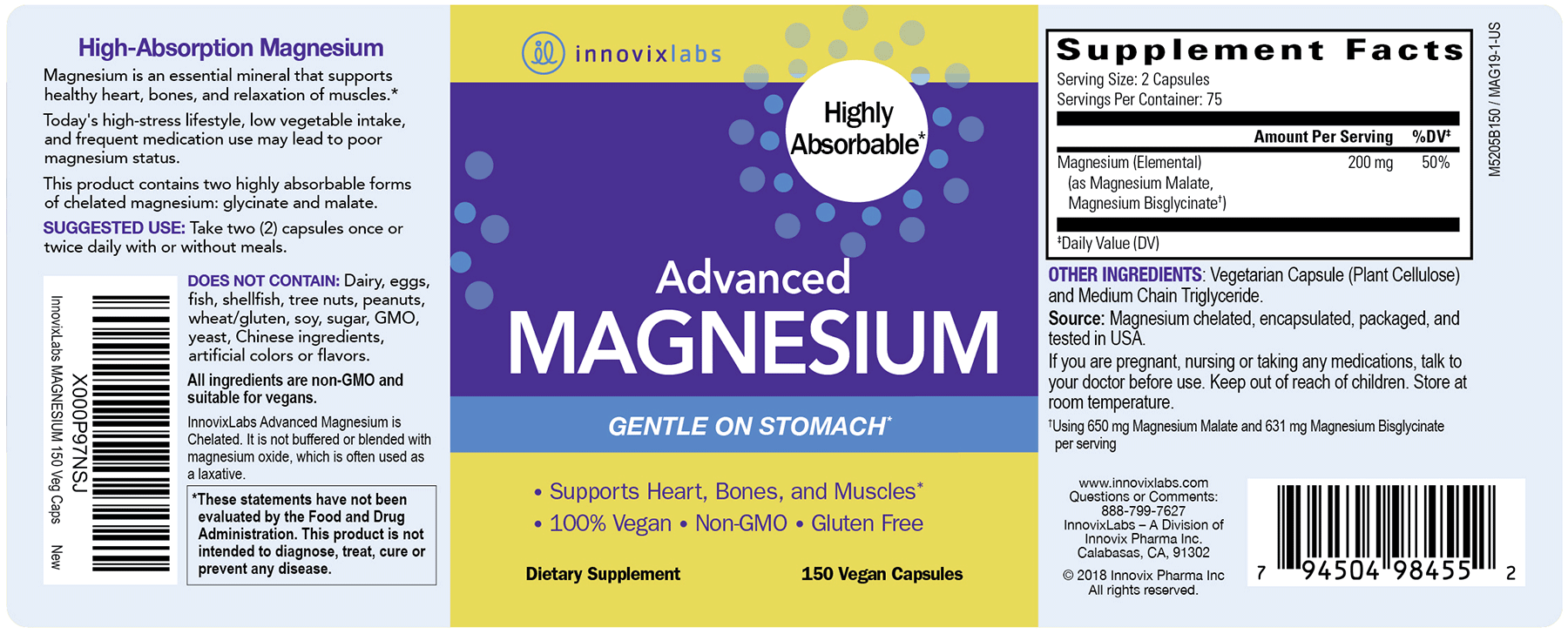 Advanced Magnesium label