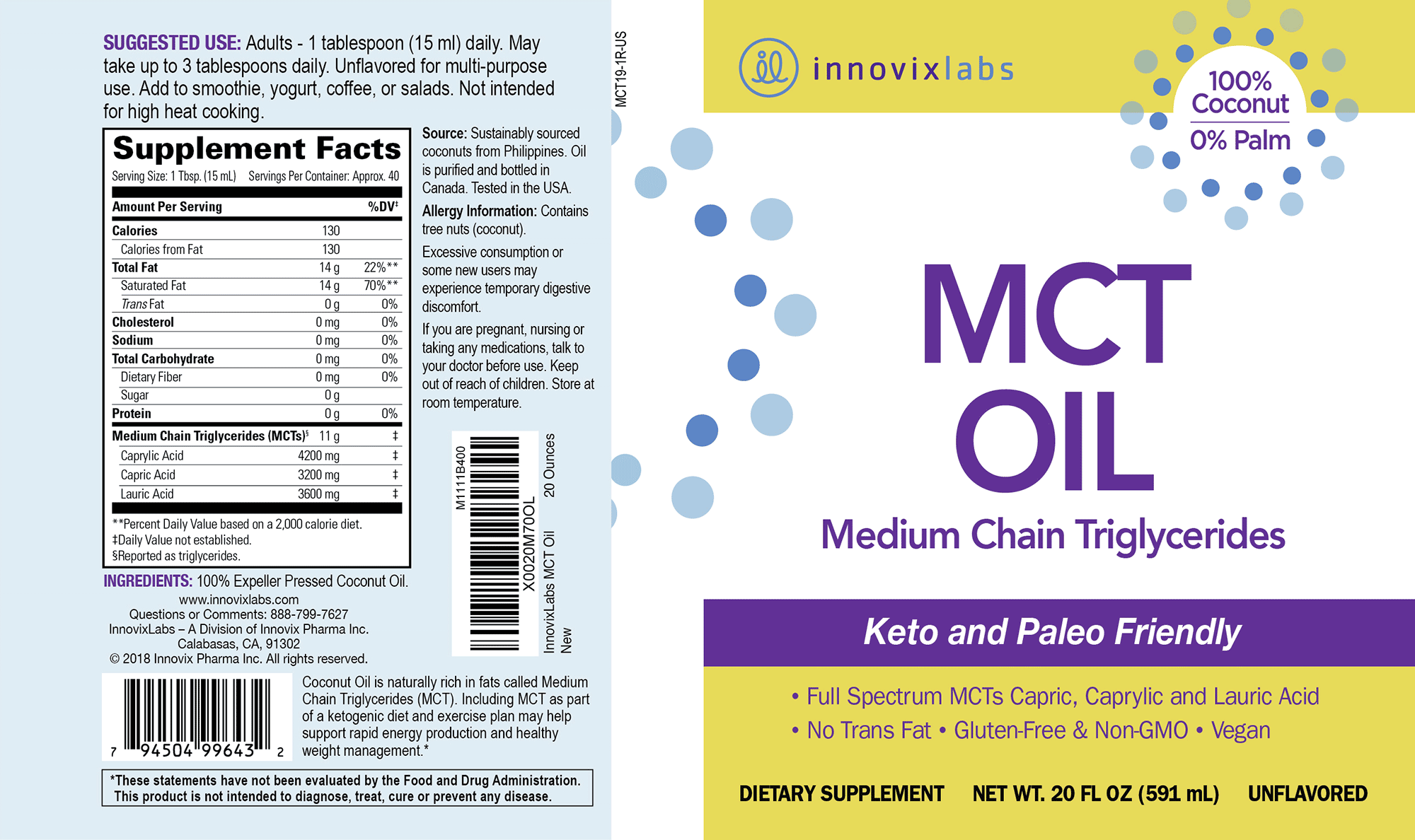 MCT Oil label