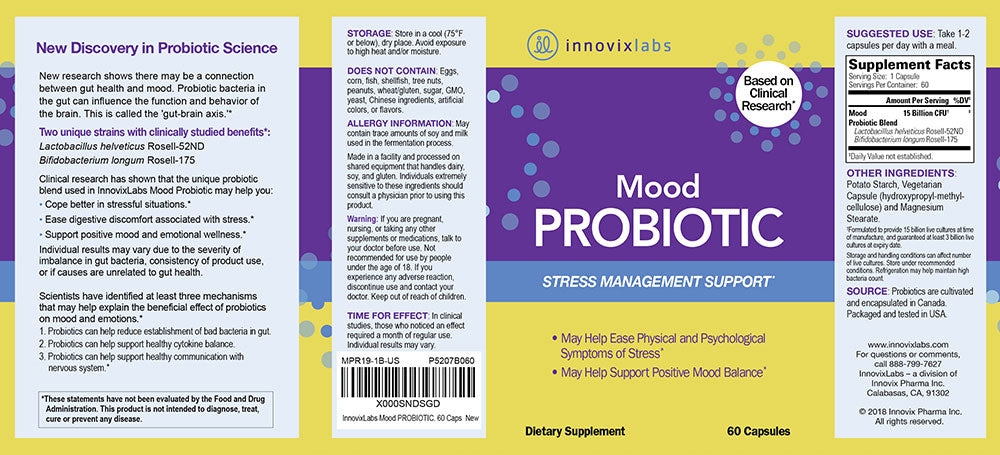 Mood Probiotic label