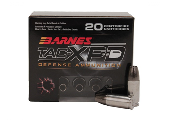 Barnes TAC-XPD 9MM+P 115 Grain HP