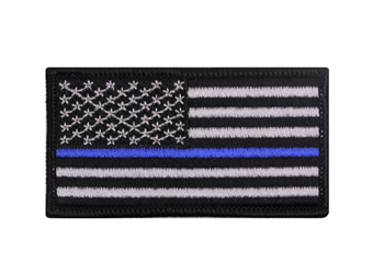 Thin Blue Line Flag Patch With Velcro Hook