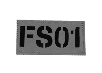 Laser Cut Call Sign Patch - Colored Manatee Grey With Black