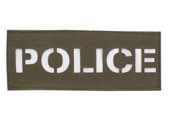 Laser Cut Call Sign Patch - Colored Ranger Green With White