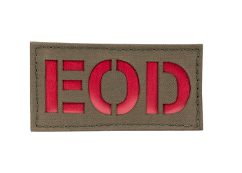 Laser Cut Call Sign Patch - Colored Ranger Green With Red