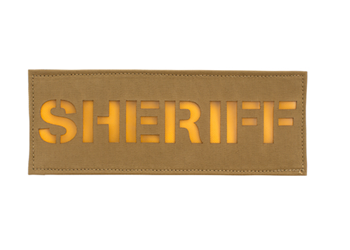 Laser Cut Call Sign Patch - Colored Coyote Brown With Yellow