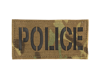 Laser Cut Call Sign Patch - Colored Multicam With Black