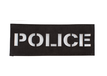 Laser Cut Call Sign Patch - Colored Black With White