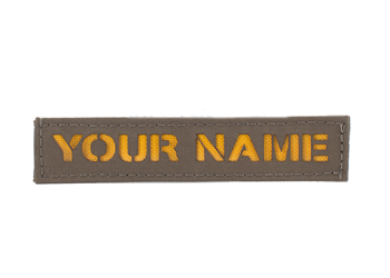 Laser Cut Name Tape - Colored Coyote Brown With Yellow