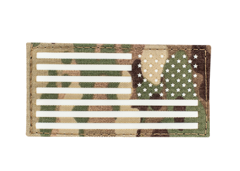Laser Cut USA Flag Patch - Glo or IR Multicam Reverse Glo