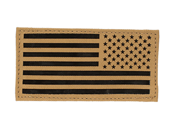 Laser Cut USA Flag Patch - Glo or IR Coyote Brown Reverse IR