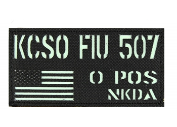 Laser Cut Combat ID Patch - Jumbo - Glo or IR