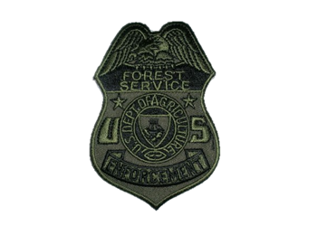 Custom Badge Patches US Forest Service