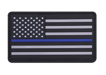 Thin Blue Line PVC Flag Patch TBLUSAPVCP