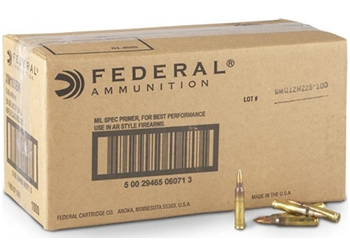 Federal Lake City XM193 5.56 NATO 55 Grain FMJ XM193