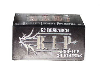 G2 Research R.I.P. .380ACP 62 Grain HP G2RIP380