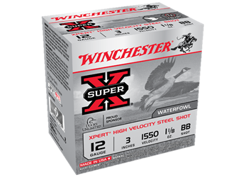 "Winchester Super-X 12 Gauge 3"" Xpert High Velocity Steel Shot WEX123BB"