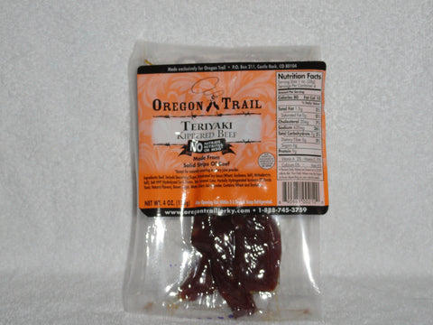 Teriyaki Kippered Beef Jerky 4 oz package