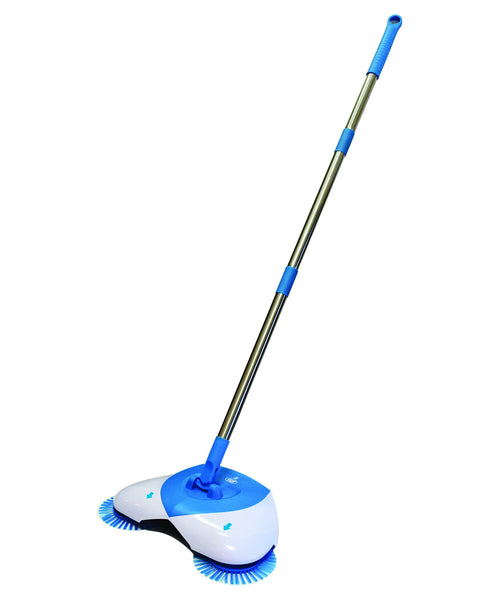 Hurricane Spin Broom by BulbHead - As Seen on TV- Lightweight. Cordless Spinning Broom for Sweeping Hard Surfaces