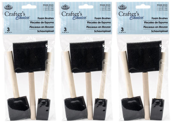 3-PACK - Royal Brush Foam Brush, (3-pack each)