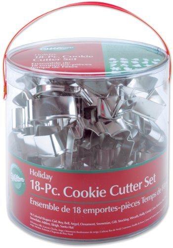Wilton Metal Cookie Cutters 18/Pkg - Tree Snowflake Gingerbread Man