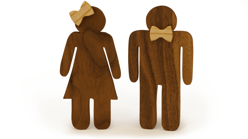 Theis & Julie | Woodsen Træfigurer