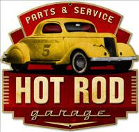 Hot Rod Metal Signs