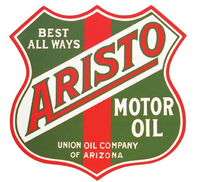 "Aristo Motor Oil Metal Sign  26"" by 26"""