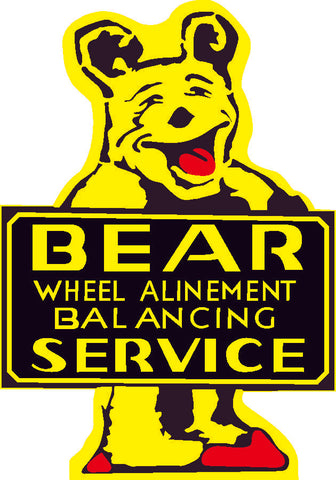 "Bear Service Plasma Cut Custom Metal Sign 26"" by 18"""