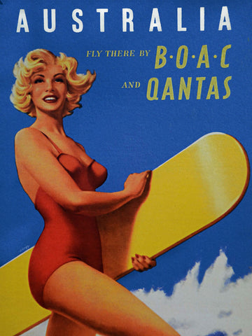 Australia BOAC Qantas Metal Sign
