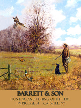 Barrett & Son Metal Sign