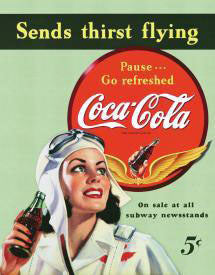 Coke-Sends Thirst Flying
