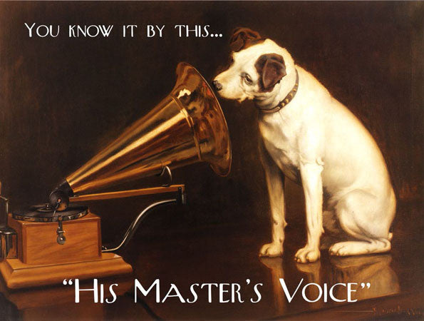 His Master's Voice Metal Sign