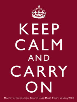 Keep Calm and Carry On (burgundy)