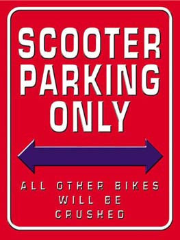 Scooter Parking Only