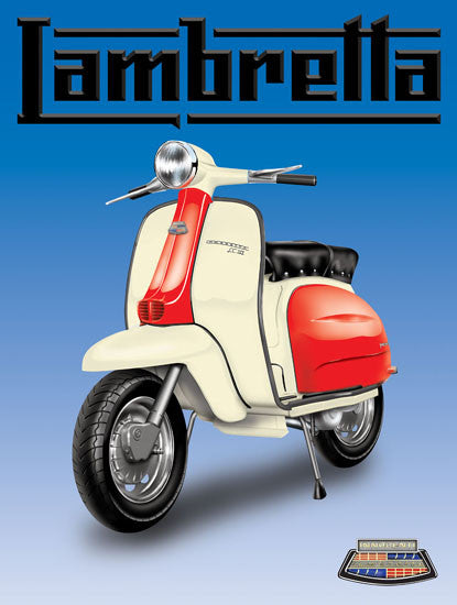 Lambretta (blue background)