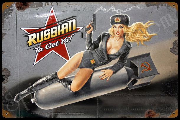 Russian Nose Art Vintage