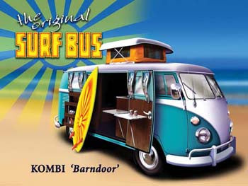"Surf Bus Kombi ""Barndoor'"